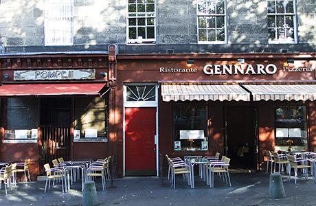 Ristorante Gennaro and Pompeii has traded in Edinburgh's Grassmarket since 1984.