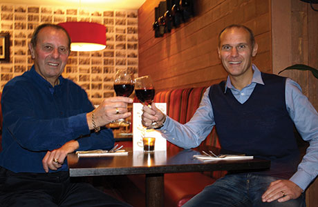 • Aldo and Anthony Cecchini toast the launch of their latest Ayrshire venue in Prestwick.