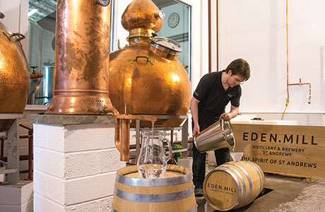 • Single malt whisky has not been distilled and casked at the Eden Mill site since the 19th century.