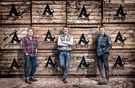 • Iain, John and David Stirling of Arbikie Distillery in Angus have created Arbikie Vodka.