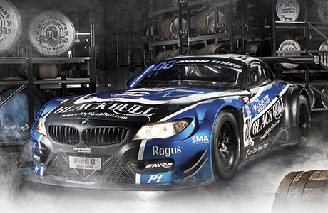 • Black Bull whisky sponsored the 2014 British GT winning Ecurie Ecosse BMW Z4 race car.