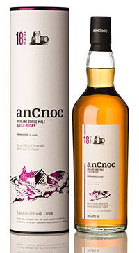 • The 46% ABV anCnoc 18 year old.