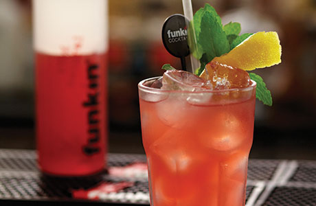 • Funkin's Rhubarb-a-Rita cocktail.