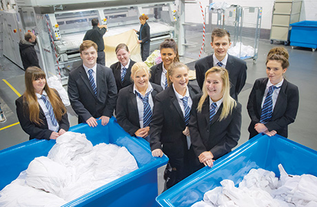 • Apprentices completed the masterclass at Apex Hotels' laundry facility in Livingston.