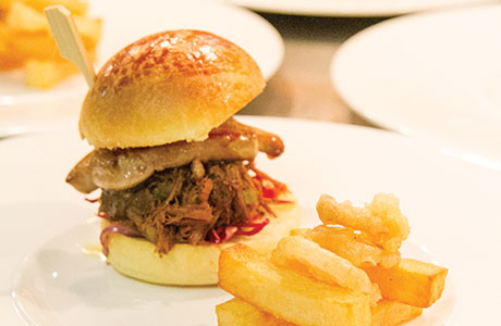 • The restaurant's duck burger is one of the attractions in its new culinary offering.
