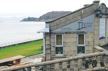 "• The Seafood Temple in Oban offers ""stunning"" views overlooking the island of Kerrera."