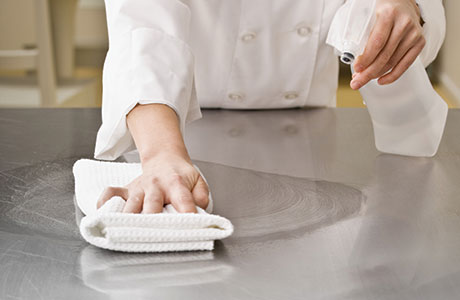 • A kitchen cleaning rota with clearly defined roles for each member of the team is key, chefs say.