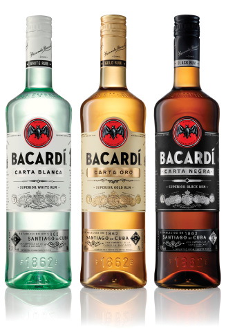 The new-look Bacardi packaging.