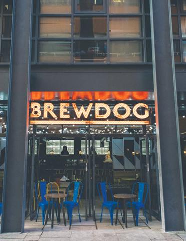 Brewdog has 18 bars in the UK