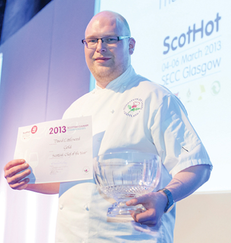 The last winner of the Scottish Chef of the Year award, David Littlewood.