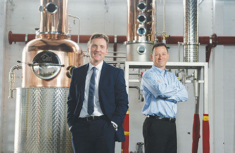 • Glasgow Distillery Company CEO Liam Hughes (right) with business partner Ian McDougall.