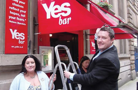 'Yesbars' to pop up ahead of election?