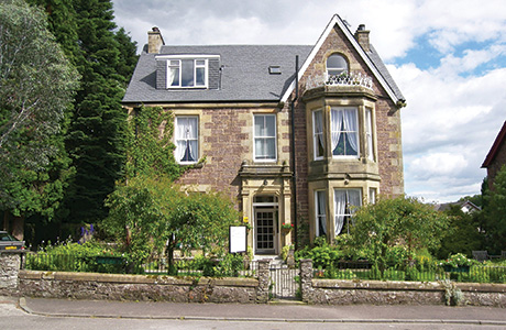 • The Annfield Guest House in the picturesque village of Callander is set in its own grounds.
