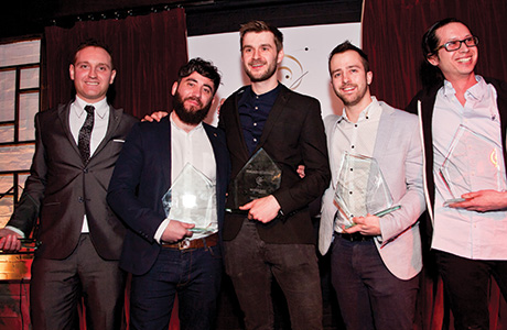 • Jon Hughes from Bramble in Edinburgh (right) with fellow finalists.