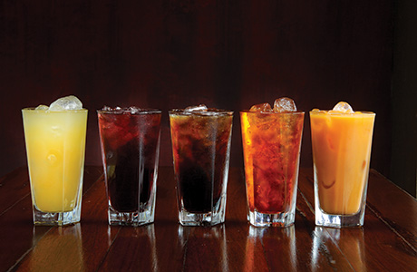 shutterstock_soft drinks on bar