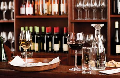 shutterstock_wine glasses on bar
