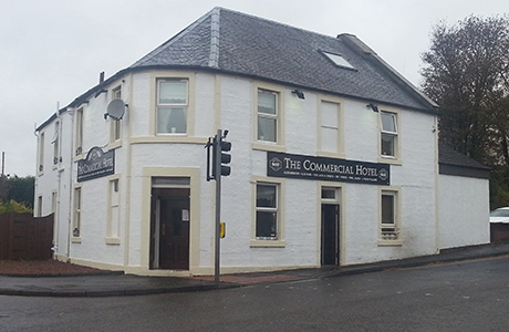 The exterior of The Commercial Hotel in Larbert