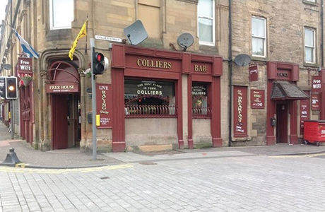Colliers Bar is in Johnstone town centre.