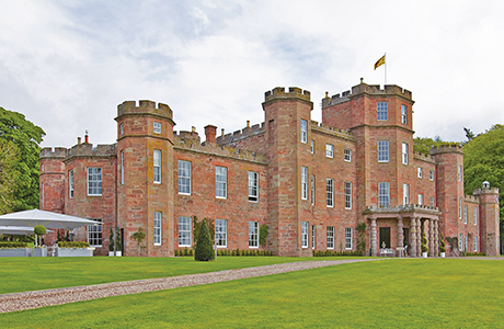 Fasque House in Aberdeenshire has 19 bedrooms and a great hall.