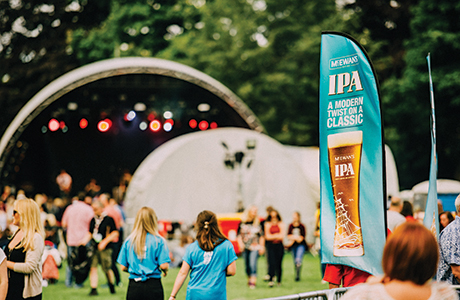 • McEwan's IPA was available in keg at Party at the Palace in Linlithgow.