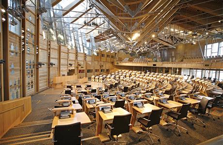 038_Scottish Parliament debating chamber
