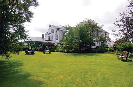 The Carradale Hotel's private gardens.