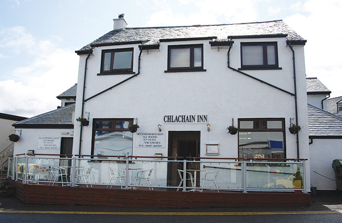 Change on the menu in Mallaig