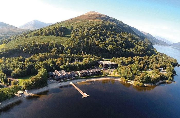 Lodge on Loch Lomond Hotel Aerial