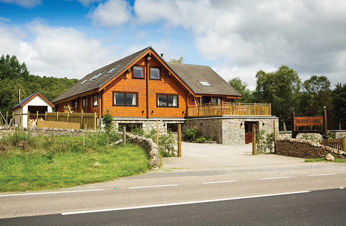 Big Husky Lodge, close to Aviemore in the Cairngorms, is said to offer luxury accommodation.