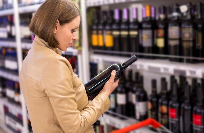 Wine, supermarket