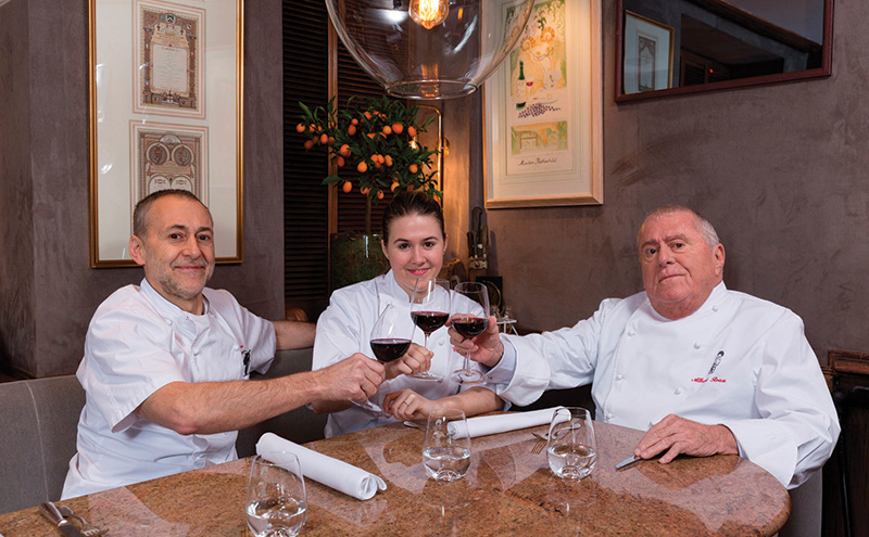 Albert, Michel and Emily Roux