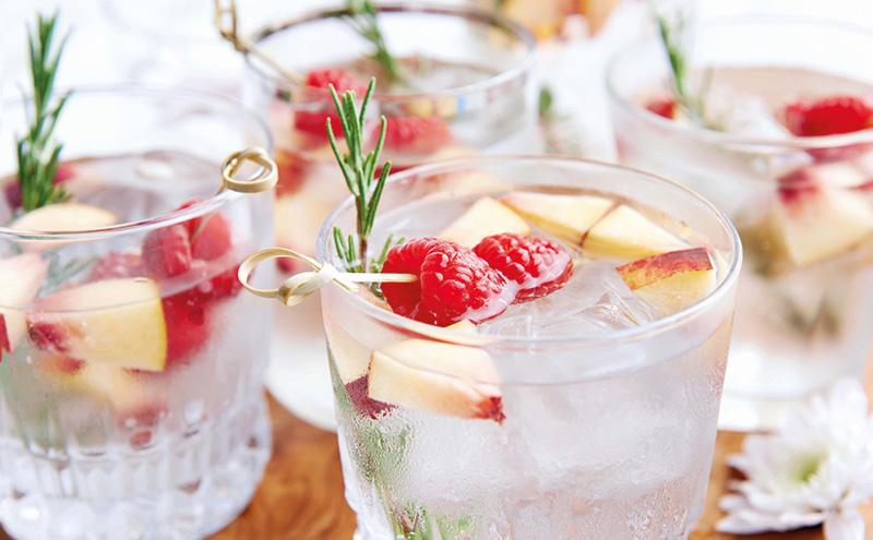 clear cocktail garnish