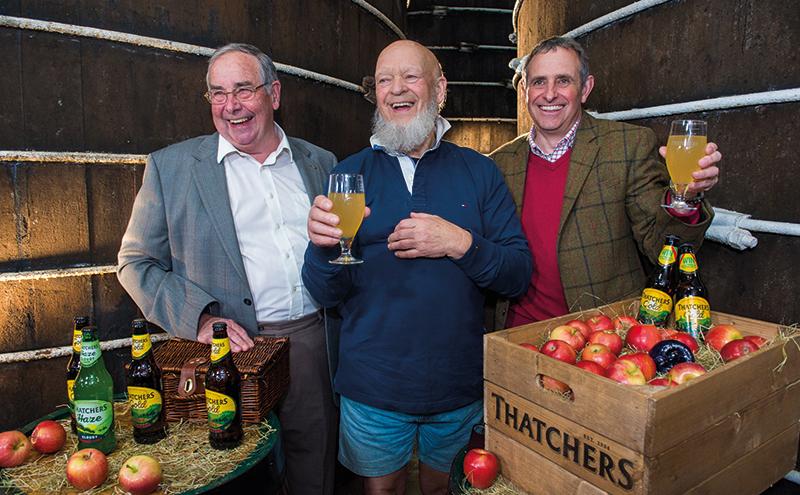 023_Michael Eavis visits Thatchers Cider April 2016