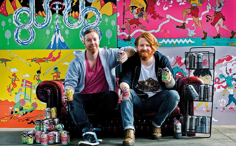 Artist John Felix & Drygate's Chris Moriarty