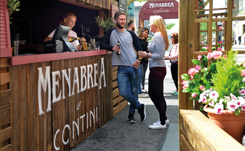 • The Menabrea at Contini pop-up terrace is open throughout August.