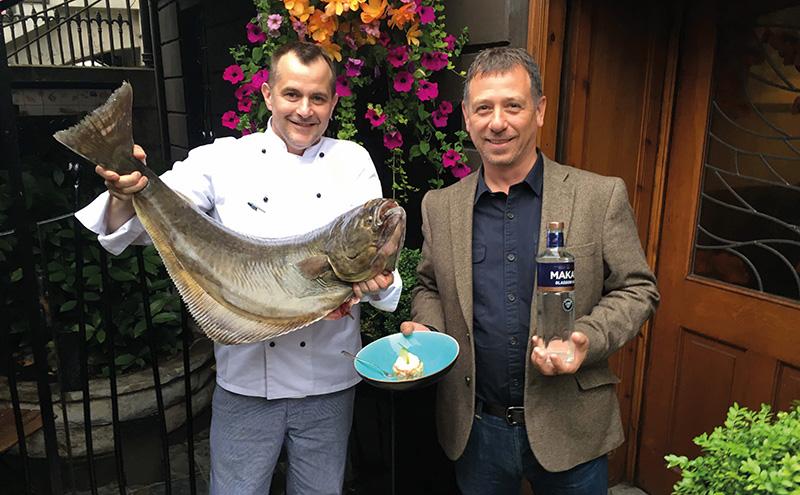 • Derek Marshall (left) with Liam Hughes.