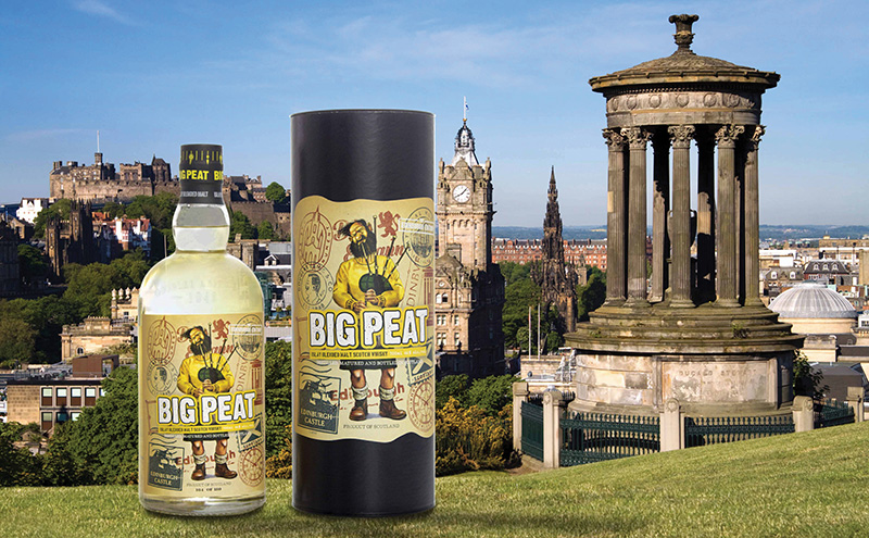 • Douglas Laing whisky was promoted across Edinburgh through Big Peat travel stamps