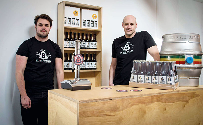 • Middleton (right) said the beers are designed to appeal to general beer drinkers, as well as those suffering from Coeliac Disease.