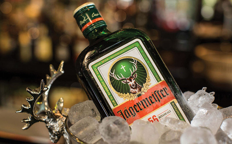 • The television campaign for Jägermeister features the brand's miniature bottle.