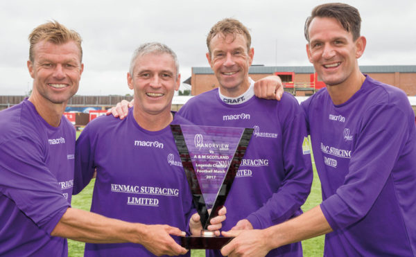 Manorview scores with charity match