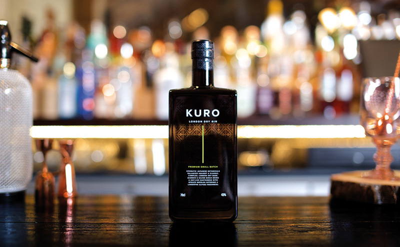 "New London Dry gin, Kuro, was created to ""capture the essence of the Japanese Alps""."