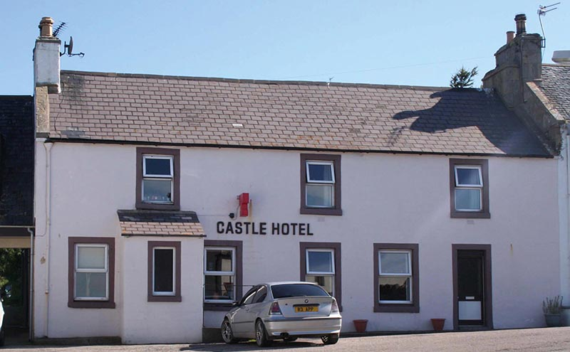 The hotel overlooks the Dornoch Firth.