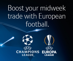 Boost your midweek trade with European football