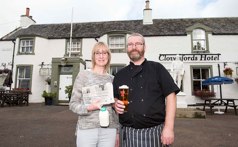 Roy and Theresa McIntosh opened a village shop in their pub.
