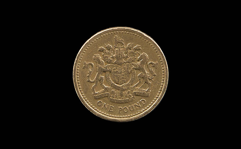 Going, going, gone: £1 coin.