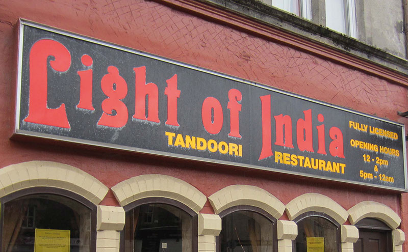The Light of India in Oban