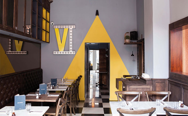 Six by Nico in Edinburgh takes various cues from its Glasgow counterpart.