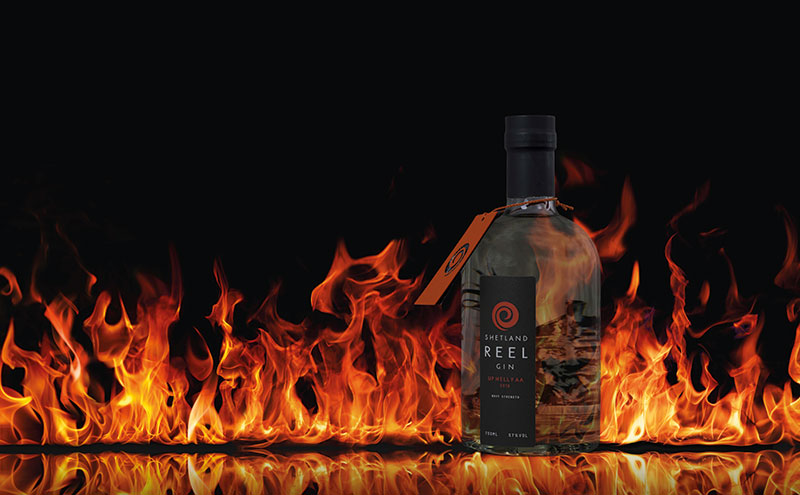 This year's Up Helly Aa gin design.