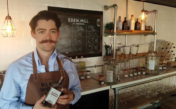 Bartender blends gin with Eden Mill