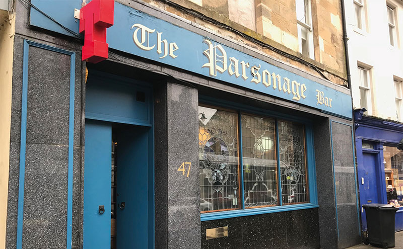 The Parsonage Bar in the Fife town of Cupar.
